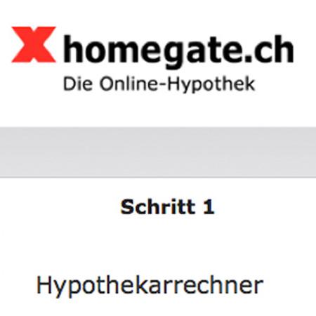 homegate.ch – Hypothekarrechner – off- und online