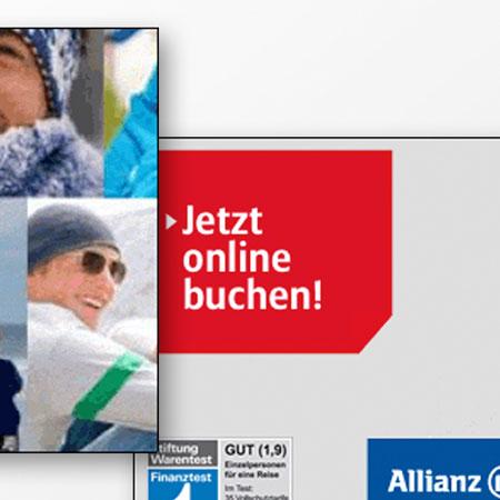 Allianz Global Assistance – Bannerkampagne «Reiseversicherung»