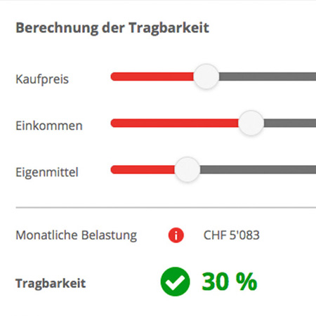 homegate.ch – Online-Tragbarkeitsrechner